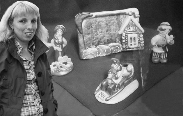 Л.Н. Лутошкина и её игрушки.